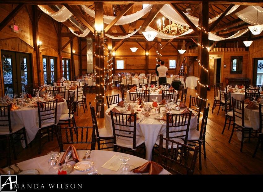 The Barn Sparkled And Glowed With Pumpkin Colored Silk Napkins Silver Jack o lantern