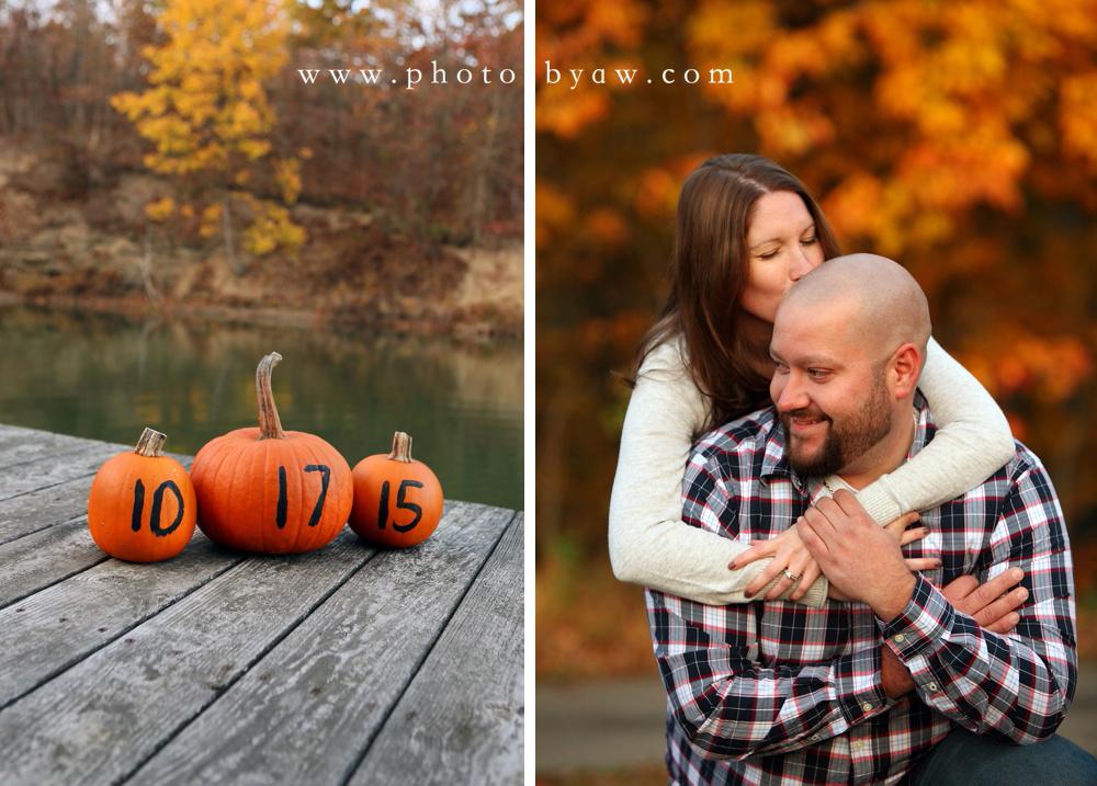 fall save the date pumpkin