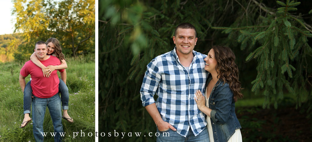 outdoor country engagement photos