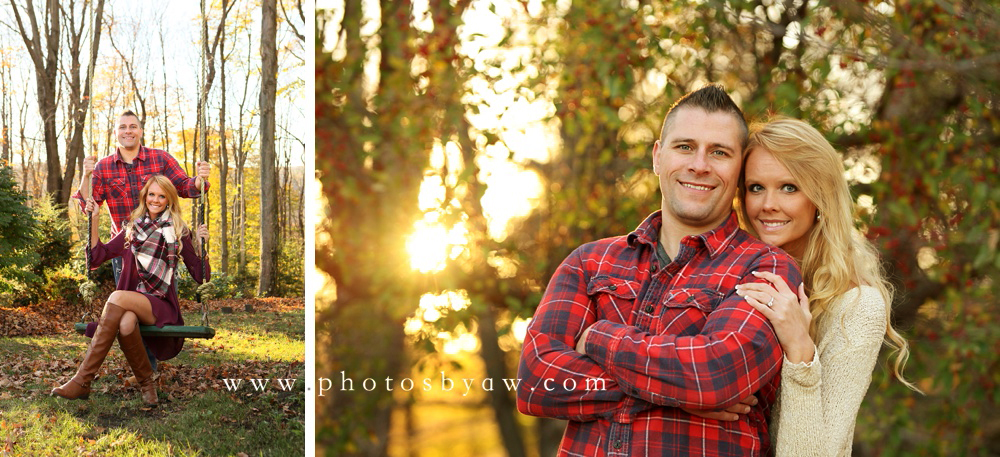 fall engagement session central PA