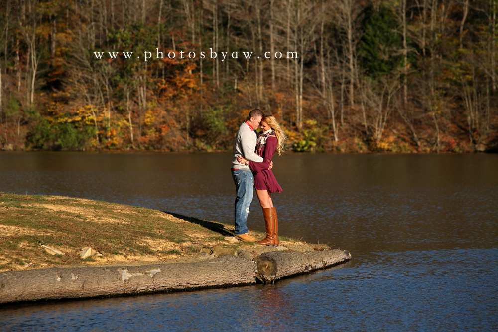 fall lake engagement photos PA