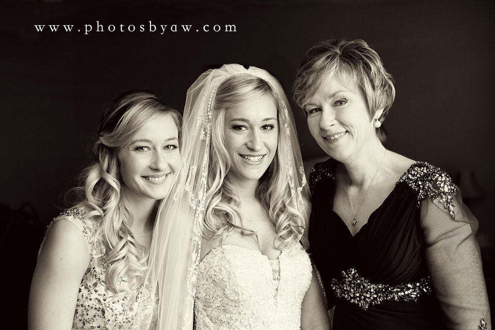 mother daughter wedding photo